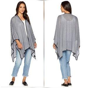 Calvin Klein Striped Jersey Kimono Wrap